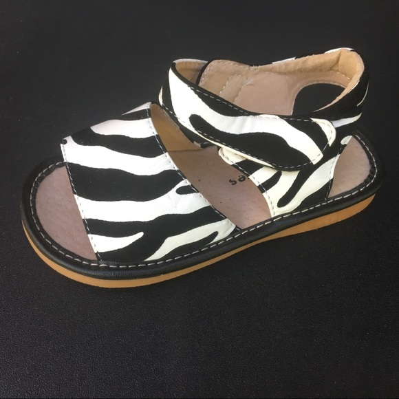 75a37f92f4 Laniecakes Zebra Squeaky Sandals - size 11